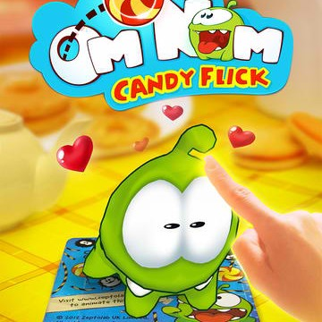 Cut The Rope Augmented Reality Spinoff Game Om Nom: Candy Flick Gets 2.0 Update