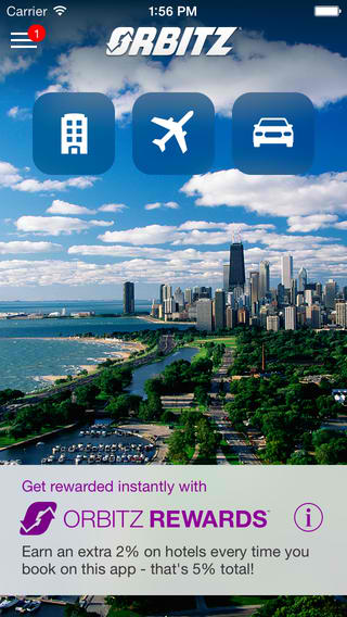 Orbitz Flights, Hotels, Cars 4.0 Features iOS 7 Redesign Plus More Rewards