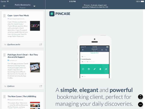 Simple And Elegant Pinboard Client Pincase Updated With Numerous Improvements