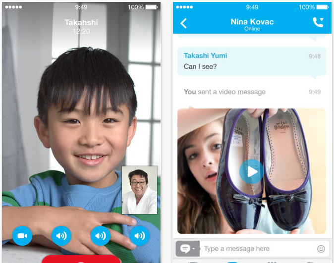 Skype's iOS Apps Get A Leaner, Cleaner Design For iOS 7