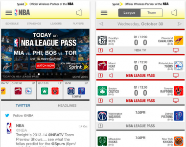 NBA Game Time Updated For 2013-2014 Season, Redesigned For iOS 7 And More