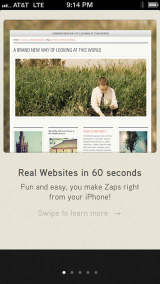 Pioneering iOS Website Builder Zapd To Be 'Zapped' Out Of Existence Next Week