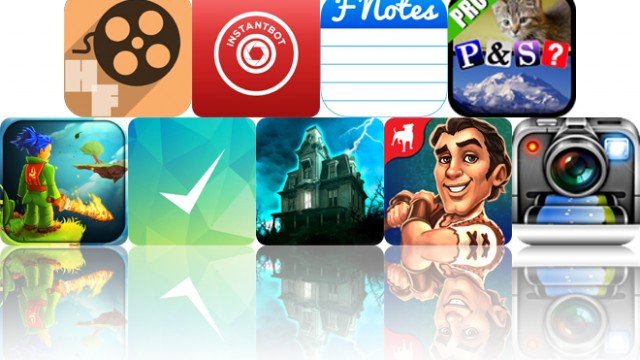Today's Apps Gone Free: Hollow Films, Instantbot, FNotes And More