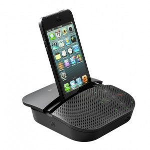 Logitech's New Mobile P710e Speakerphone Features An Integrated Stand For Any iOS Device