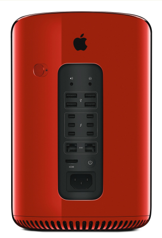Beautiful Red Mac Pro Designed By Jony Ive For Charity Auction Is Unveiled