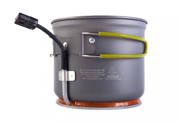 The PowerPot V converts any heat source into DC electrical power.