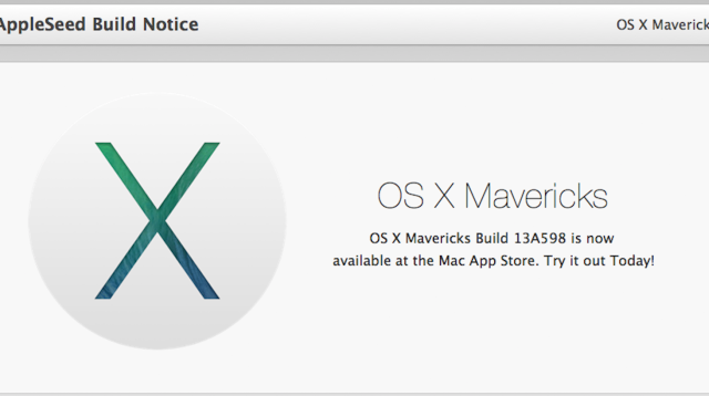 New OS X Mavericks Build Seeded To AppleSeed Members