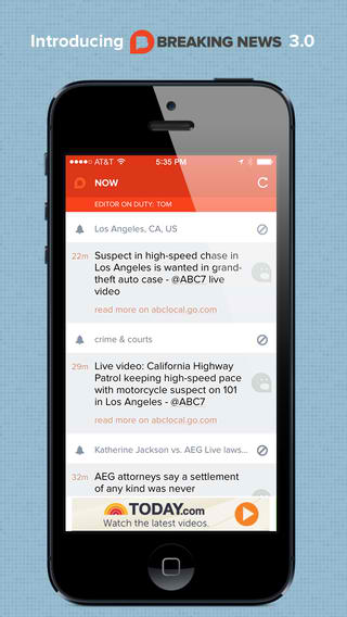 NBC's Breaking News + App Updated With iOS 7 Redesign And Personalization Options