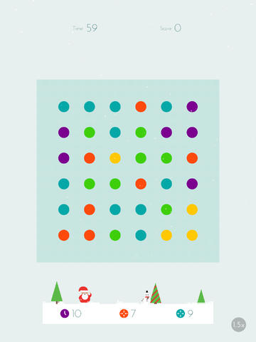 Connect Colorful Dots In A Winter Wonderland With Dots' New Holiday Theme