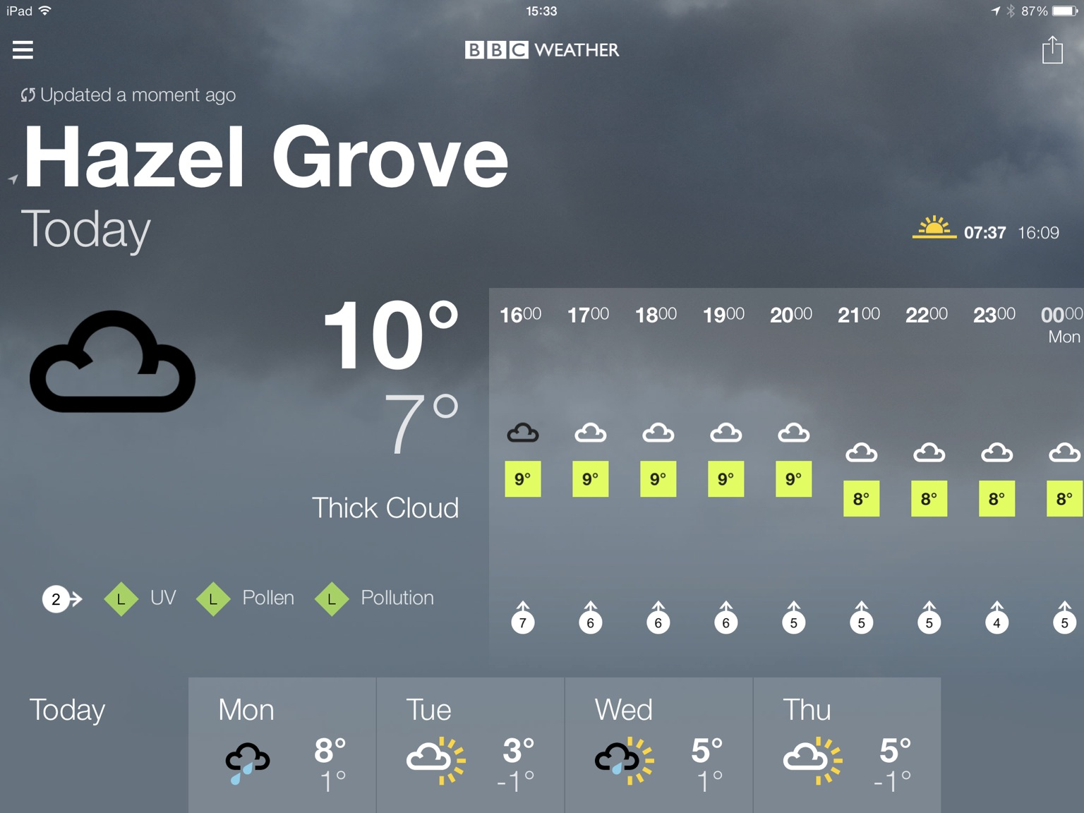 BBC Weather Updated For iPad, Gets Design Changes And More