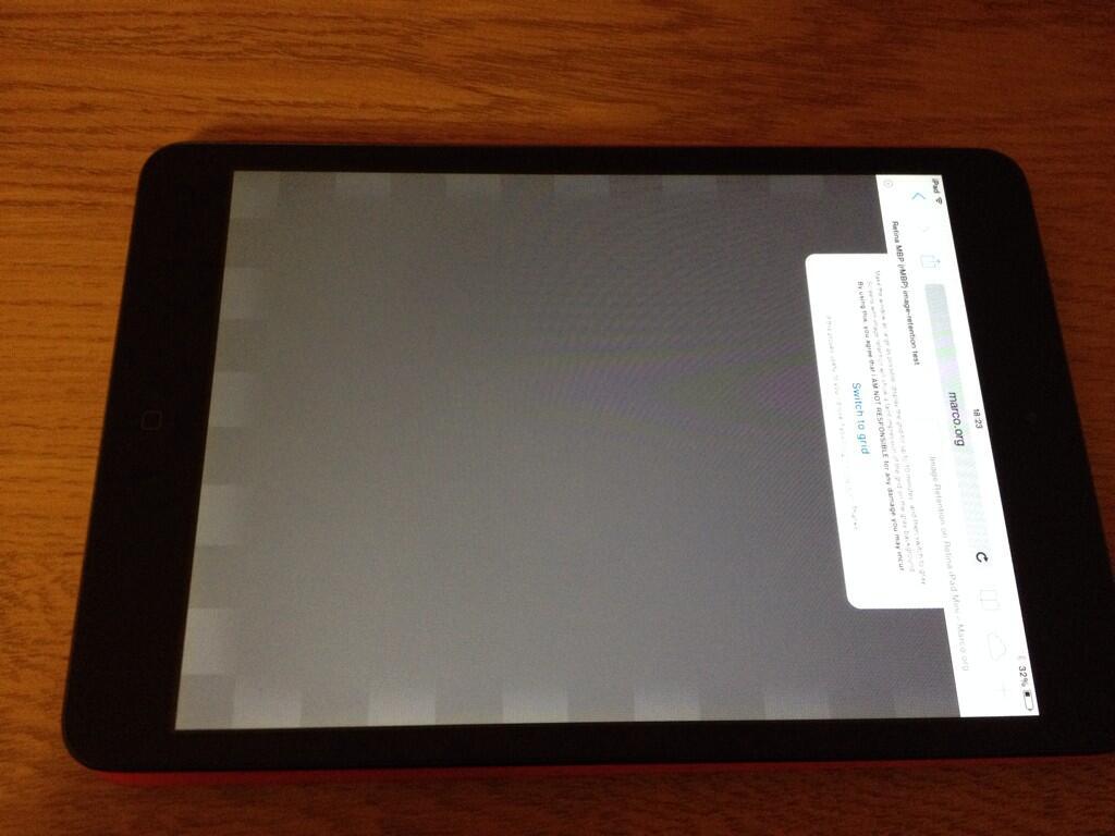 Apple's New iPad mini Suffers From Retina Display Image
