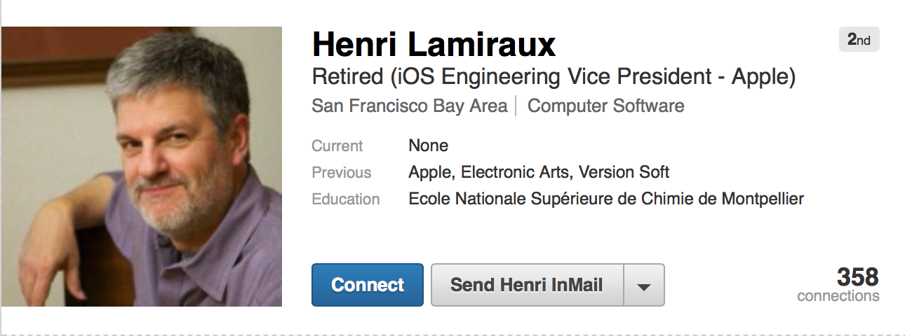 Head Of iOS Engineering Henri Lamiraux Has Retired From Apple