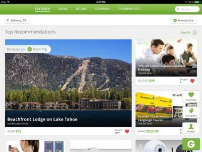 Groupon Apps For iPhone And iPad Updated With Improved Searching And Browsing