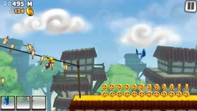 Feel Like A True Ninja As You Run And Slash Your Way Through In NinJump Rooftops