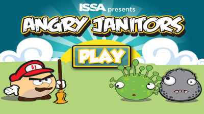 Quirky App Of The Day: Angry Janitors Keep The Germs Away