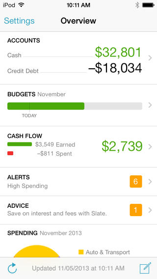 Mint.com Personal Finance App Redesigned For iOS 7, Updated With Spending Trends