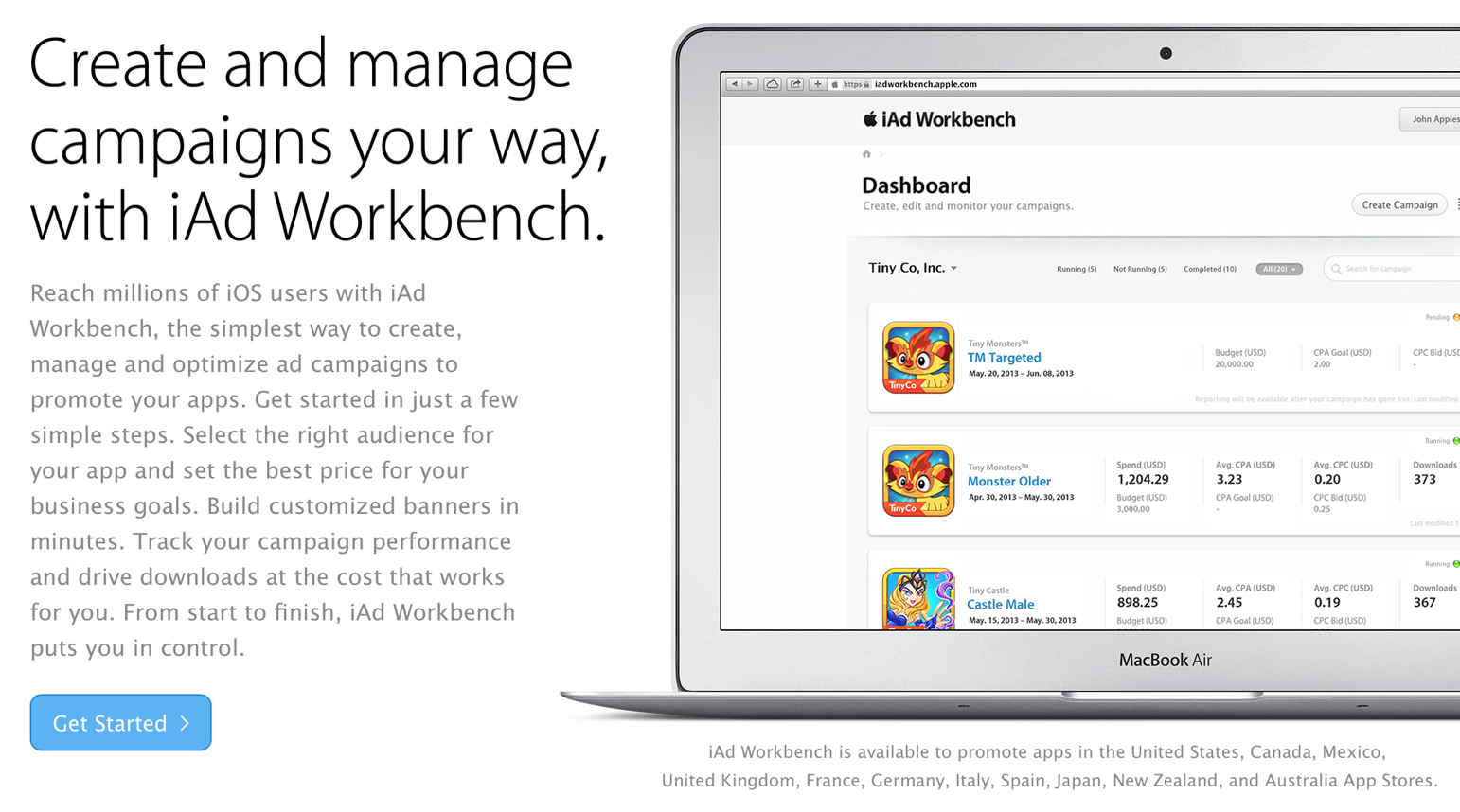 Apple Launches iAd Workbench In A Number Of International Countries