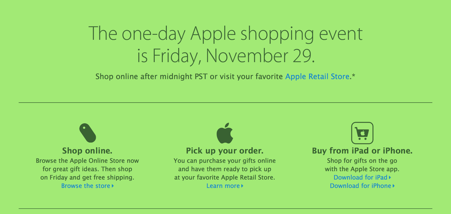 Apple's Black Friday Deals Could Be Gift Card-Oriented, Rather Than Product Discounts