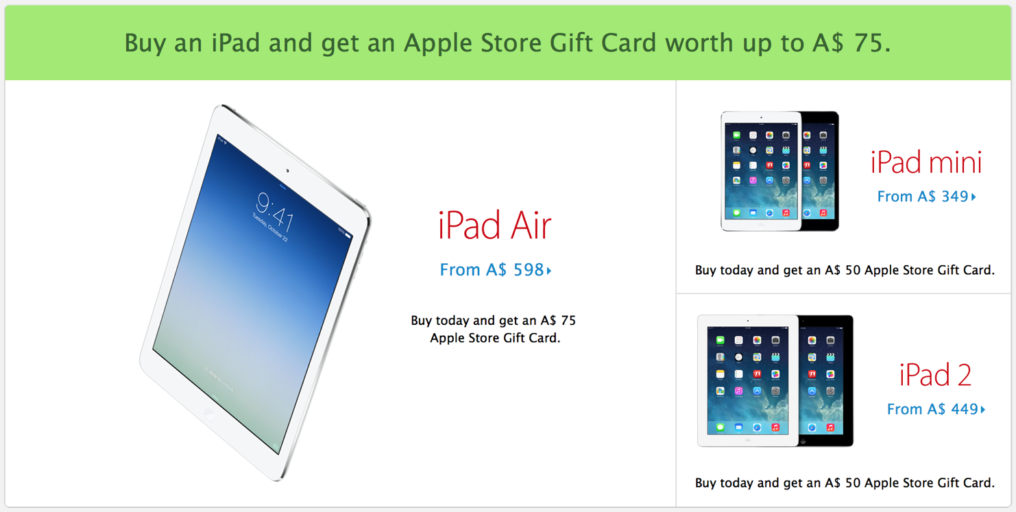 Apple's Black Friday Deals Go Live: Gift Cards Only, Not A Product Discount In Sight
