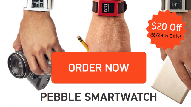 Pebble Smart Watch Gets Discounted For Black Friday, Plus Free Shipping
