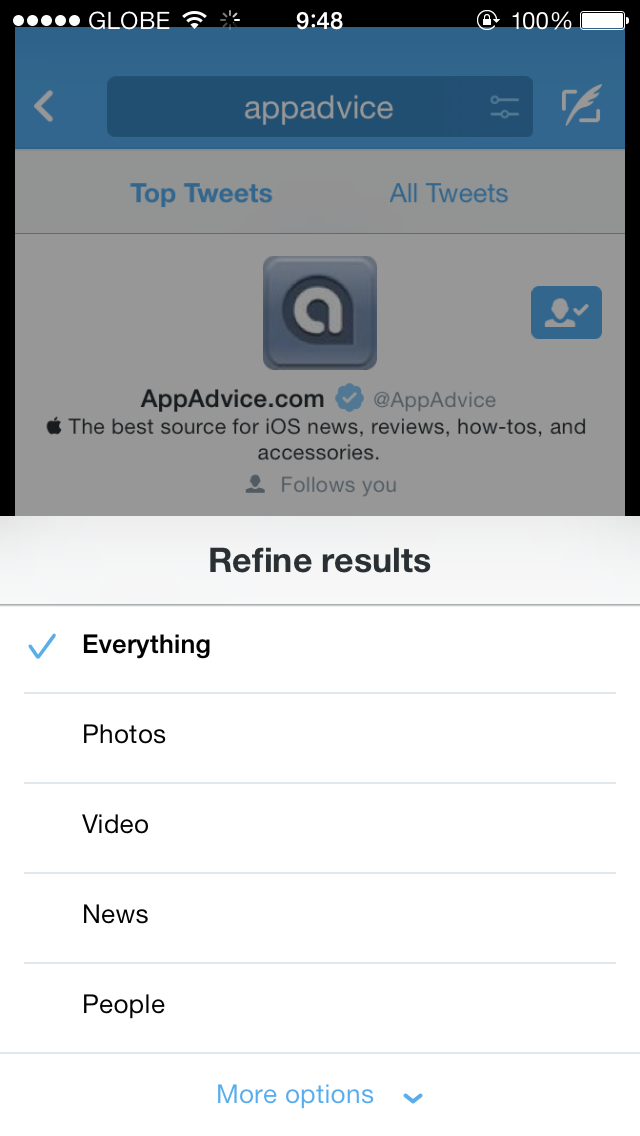 Twitter For iOS Updated With Search Refinements, New Trending Timeline And More