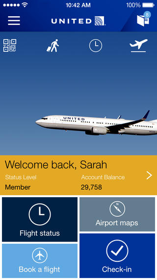 United Airlines App Takes Off With iPad Support, iOS 7 Design And New Features