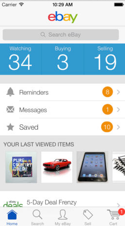 The eBay App Updated With In-Store Pickup Option And Pinterest Sharing