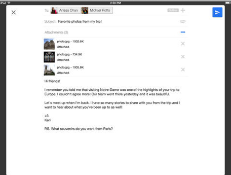 Gmail Update Brings iOS 7 Inspired Design And New iPad Features
