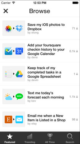 IFTTT Update Adds Actions For iOS Photos And Reminders