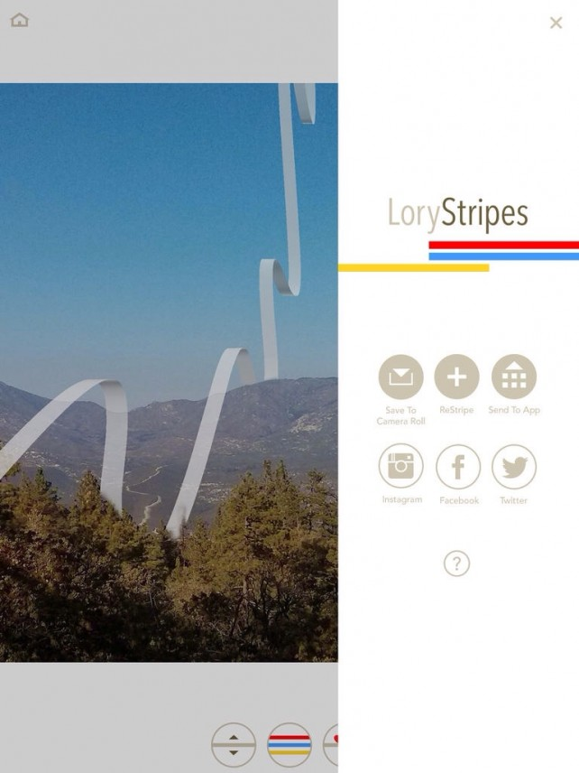 LoryStripes Photo-Editing App Goes Universal With Native iPad Support