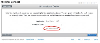Apple Increases The Number Of Promo Codes To 100 For Each App Version