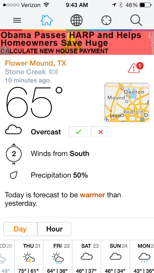 Updated Weather Underground App Features New Design, Crowdsourced Data And More