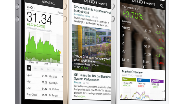 The Yahoo Finance App Now Has A New Design, Push Notifications And More
