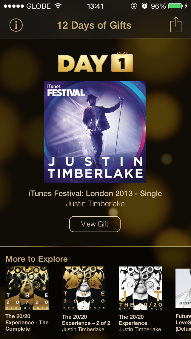 Apple's 12 Days Of Gifts Officially Begins With Justin Timberlake's iTunes Festival EP
