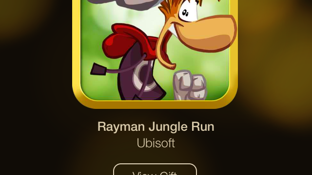 Day 7 Of Apple's 12 Days Of Gifts Offers Ubisoft's Rayman Jungle Run For Free