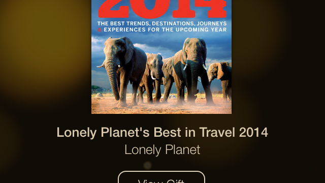 Day 3 Of Apple's 12 Days Of Gifts Offers 'Lonely Planet's Best in Travel 2014' For iBooks