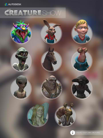 Autodesk's 123D Creature Show Photo-Editing App Goes Universal For iPad