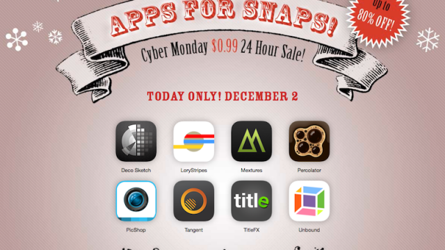 Snap Up These Photo Apps At Cyber Monday Prices, Plus A Promo Giveaway