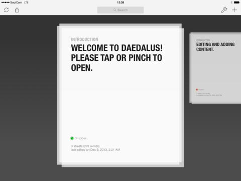 Daedalus Touch Text Editor Goes Freemium As It Gets Redesigned For iOS 7
