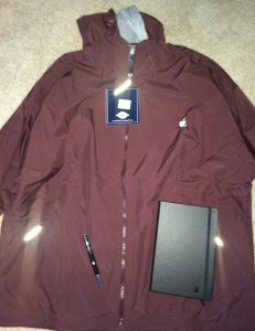 This Year Santa Claus Brought AppleCare Employees Jackets, Pens And Notebooks