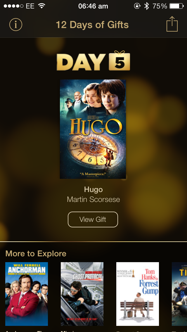Day 5 Of Apple's 12 Days Of Gifts Offers iDevice Users The Movie 'Hugo'