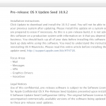Apple Launches First Beta Of OS X 10.9.2 For Registered Developers