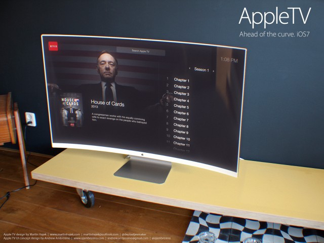 Check Out This Curved, iOS 7-Inspired Apple HDTV Concept
