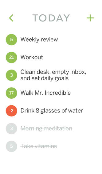 Keep Track Of Your New Year's Resolutions With The iOS 7-Optimized Habit List
