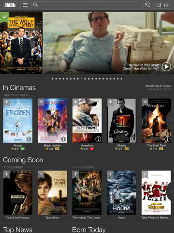 IMDb Movies & TV 4.0 Features iOS 7 Redesign, Road To The Oscars Section And More
