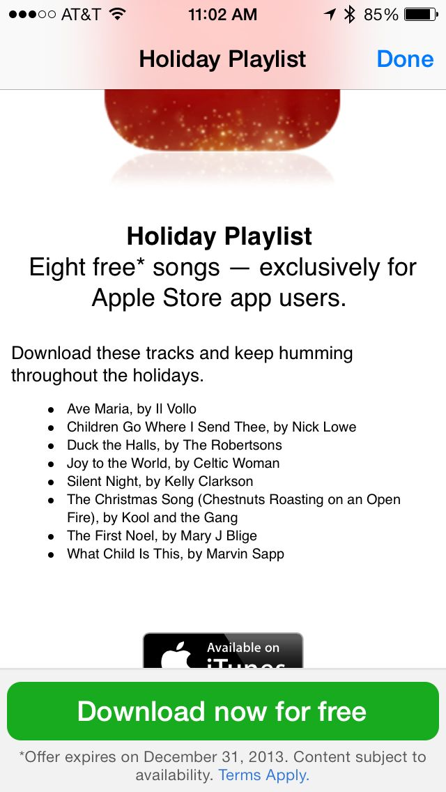 Apple Is Giving Away Some Free Music For The Holidays