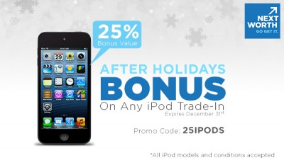 Trade In Your Old iPods At NextWorth And Receive A 25 Percent Bonus
