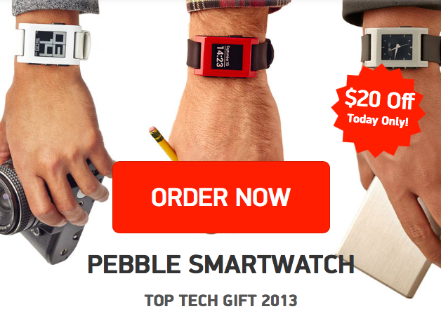 Treat Yo Self: iOS-Connected Pebble Smart Watch Available At $20 Off Until Dec. 29