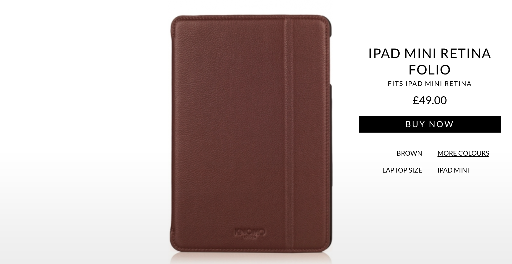 KNOMO Launches A Luxurious Leather Folio For Apple's Retina iPad mini