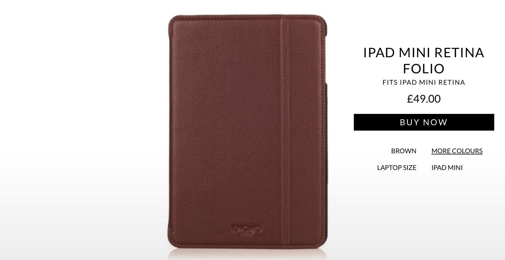 KNOMO Launches A Luxurious Leather Folio For Apple's Retina iPad mini